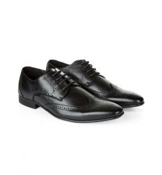New Look Black Lace Up Charlie Brogues